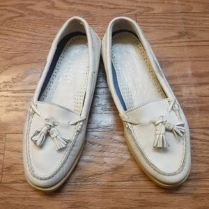 *Sperry Top-Sider White Leather Boat Shoe*